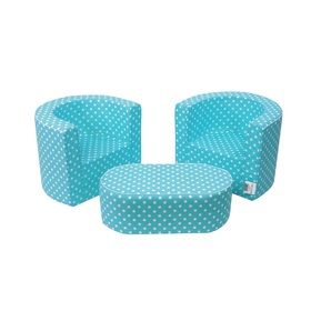 Children's furniture set blue with dots, Delta-trade