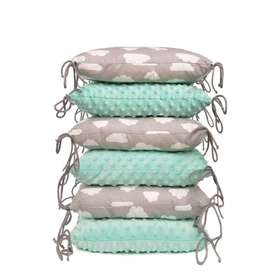 Cushioned bed padding - mint-gray, T-Tomi