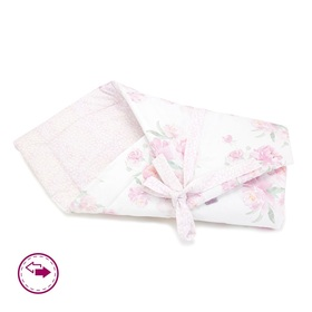 Double sided swaddle blanket Peonies, Makaszka