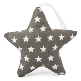Suspendable decoration Star dark grey with stars, Mint Kitten