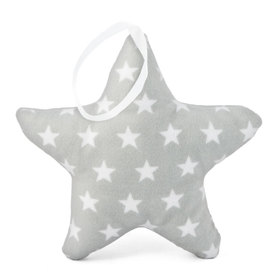 Suspendable decoration Star light grey with stars, Mint Kitten