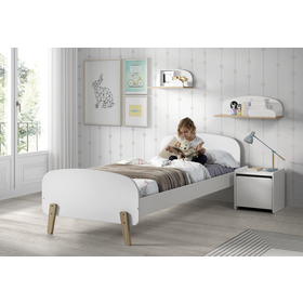 Nightstand Kiddy white, VIPACK FURNITURE