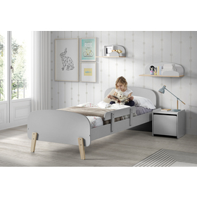 Nighstand Kiddy grey, VIPACK FURNITURE
