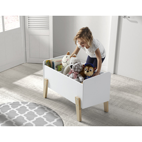 Storage box Kiddy white, VIPACK FURNITURE