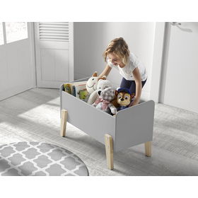 Storage box Kiddy grey, VIPACK FURNITURE