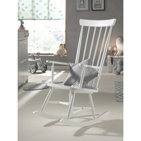 Rocking chair ROCKY white, VIPACK FURNITURE
