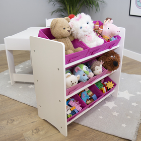 Ourbaby organizer for toys with pink boxes, SENDA