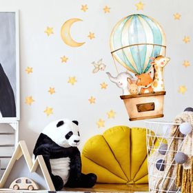 Wall sticker - Animals in a balloon, Housedecor