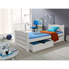 Wooden bed ROMA white, Meblobed