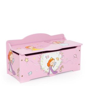 Children's wooden chest Princess, Homestyle4u