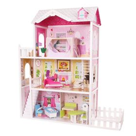 Wooden house for dolls California, EcoToys