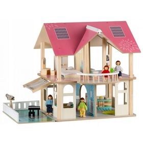 Wooden house for dolls Modern, EcoToys