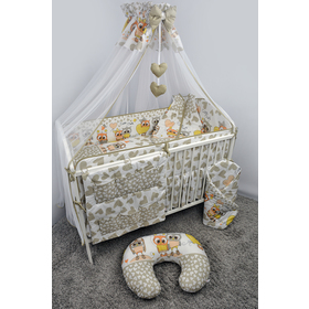 Bedding set for cribs Owls 120x90 cm