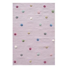 Children's rug dotted - pink, LIVONE