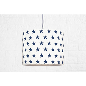Textile hanging lamp Stars Mini - dark blue, YoungDeco