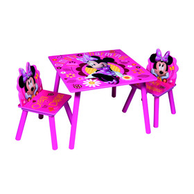 Children's table with chairs Minnie IV - pink, Globalindustry, Minnie Mouse