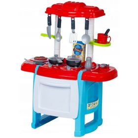 Children's kitchenette Happy Chef - red-blue, EcoToys