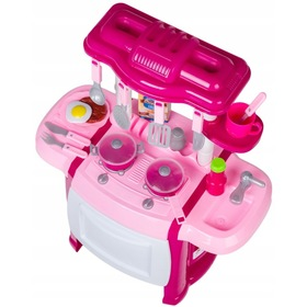 Children's kitchenette Happy Chef - pink, EcoToys
