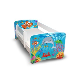 Children's Bed with Safety Rail - Ocean