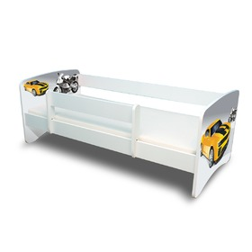 Children's Bed with Safety Rail - Racer