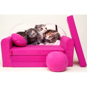 Kids' sofa Kittens - pink