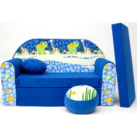 Blue Jungle 2 Children's Sofa Bed