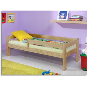 Children's Bed with Safety Rail - Beech