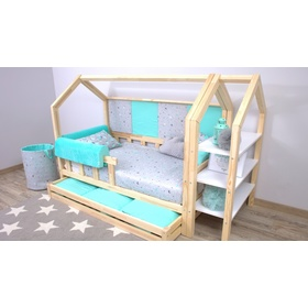 Foam bed rail Ourbaby - light blue