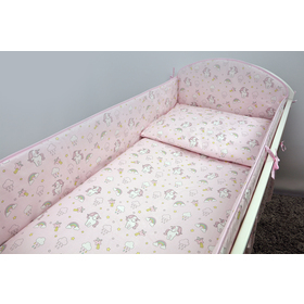 Bedding set for cribs 135x100 cm Pony - pink, Ankras