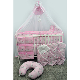 Canopy for cribs Lama - pink, Ankras