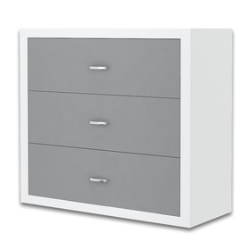 Chest of Drawers Philip - white-gray, AJK meble