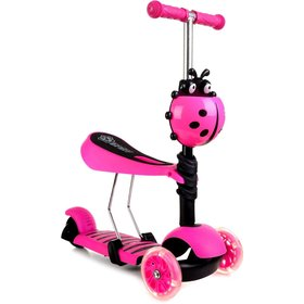 Children push bike a scooter Ladybird - pink, Multiglob