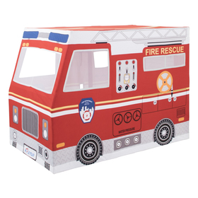 Children playing house firefighting car, Indie