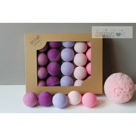 Cotton shining LED balls Cotton Balls - light berry, cotton love
