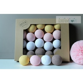 Cotton shining LED balls Cotton Balls - cukrová cotton wool, cotton love