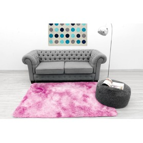 Ombré Light Pink Children's Plush Rug