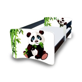 Nico Children's Bed with Safety Rail - Panda
