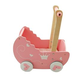 Wooden pram for Lelin dolls, Lelin