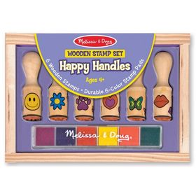 Melissa & Doug set of wooden stamps - 6 pcs, Melissa & Doug