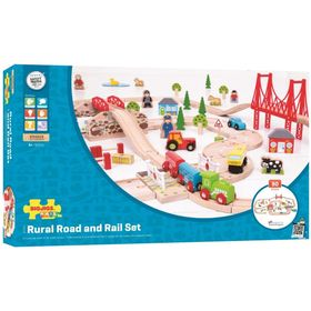 Railway with road - 80 elements, BigjigsRail