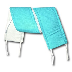 Gadeo Cot Bumper - Turquoise with Dots, Gadeo