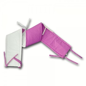 Gadeo Cot Bumper - Pink with Dots, Gadeo