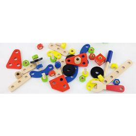 Wooden construction kit - 68 pieces, Viga