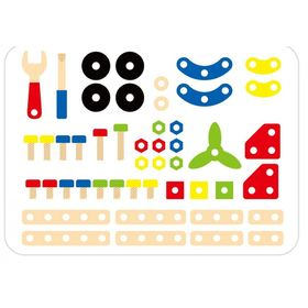 Wooden construction kit - 48 pieces, Viga