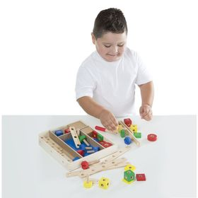 Wooden construction set - 48pcs, Melissa & Doug