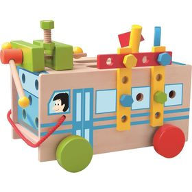 Construction bus with tools, Woody