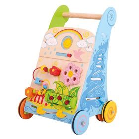 Wooden multifunctional walker - toy 7 in 1, BabyBigjigs