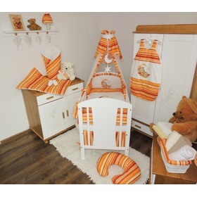 Linen to cribs - red-orange stripes, Juramba