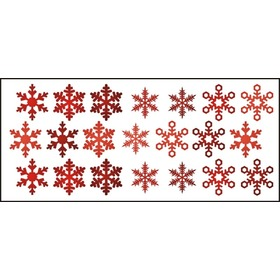 Window stickers - pattern 10 snow flakes, Mint Kitten