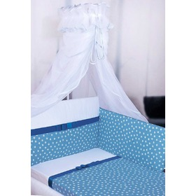 Linen Grace with bow 135x100 cm - blue, Gluck Fashion